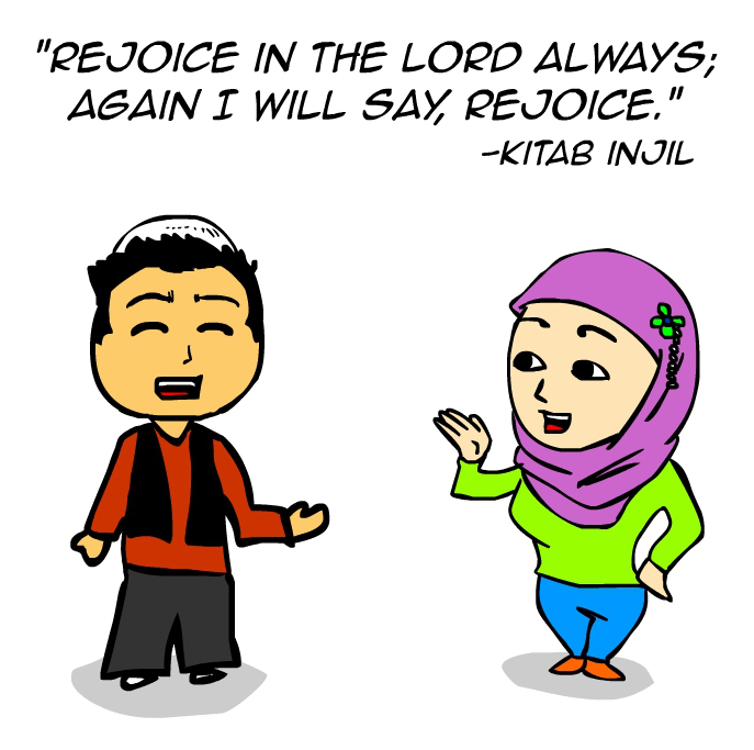 Rejoice in the Lord always (comic)